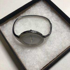 Calvin Klein silver women mirror watch